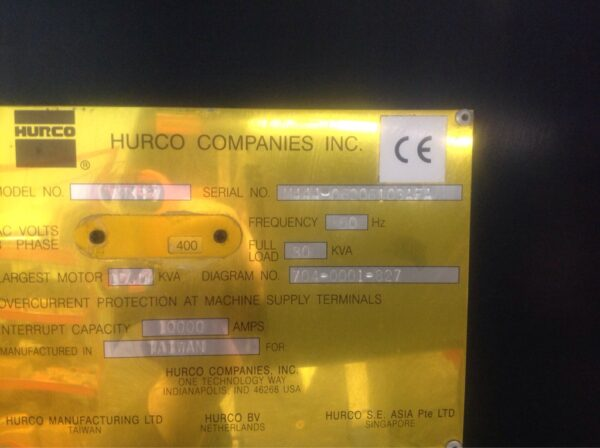 HURCO VMX42 mkp